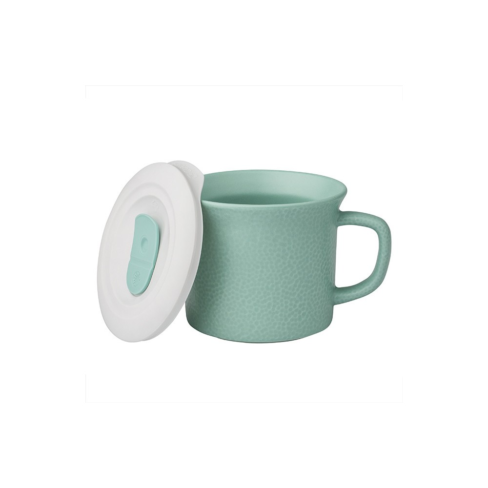 Image of Corningware 20oz Hammered Pop-in Portable Drinkware Turquoise