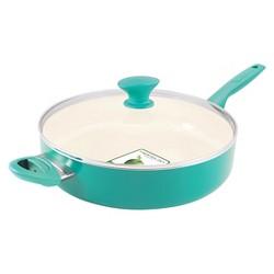 GreenPan Rio 5qt Ceramic Non-Stick Skillet Turquoise