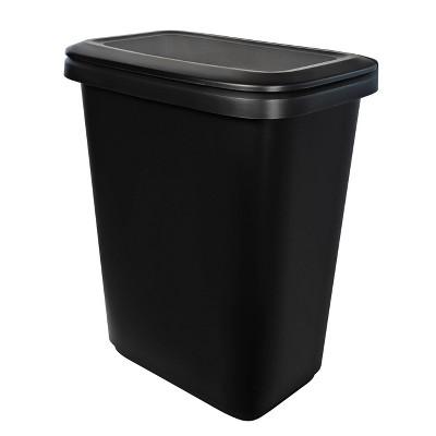Hefty 20.4gal XL Dual Function Trash Can Black