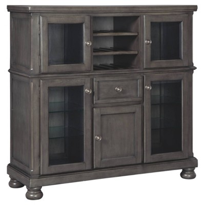 Audberry Dining Room Server Dark Gray