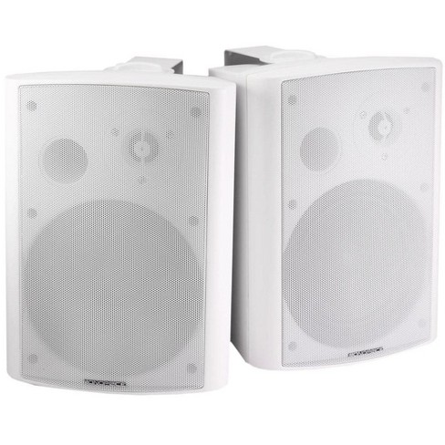 Monoprice 2-Way Active Wall Mount Speakers (Pair)  25W  White - image 1 of 4