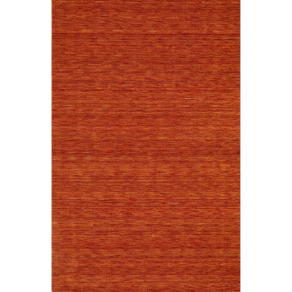 9'x13' Tonal Solid 100% Wool Area Rug Mandarin (Orange) - Addison Rugs