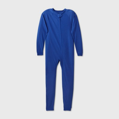 Kids' Adaptive Reversible Pajama Jumpsuit - Cat & Jack™ Navy