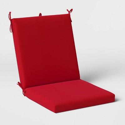 Woven Outdoor Chair Cushion DuraSeason Fabric™ Red - Threshold™