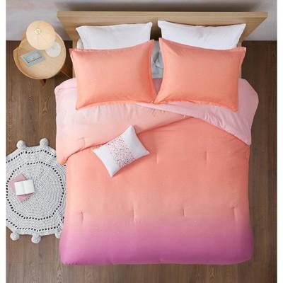 Dazzle Metallic Glitter Printed Reversible Comforter Set