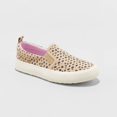 Girls' Agnesa Leopard Spot Slip-On Sneakers - Cat & Jack™ Brown