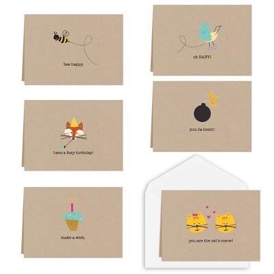 36ct Desert Note Greeting Card Set