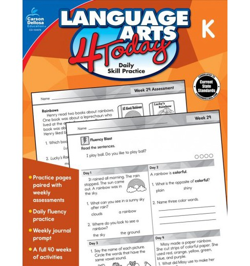 Language Arts 4 Today, Kindergarten : Daily Skill Practice -  (Paperback) - image 1 of 1