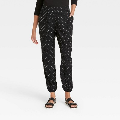The Nines by HATCH™ Maternity Floral Print Relaxed Elastic Waist Pull-On Pants Black