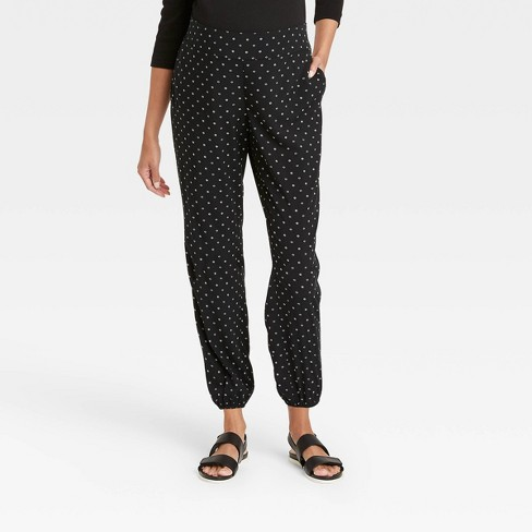 The Nines By Hatch Maternity Floral Print Relaxed Elastic Waist Pull On Pants Black Target