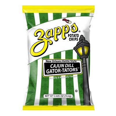 Zapp's Cajun Dill Gator - Tators Kettle Style Potato Chips 2.62oz
