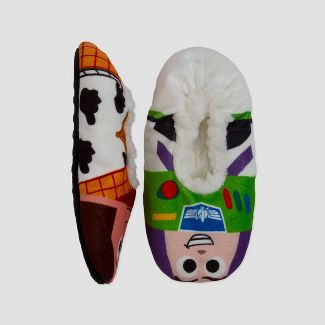 Toddler Boys' Toy Story Buzz Lightyear Fuzzy Babba Slippers - 4T-5T