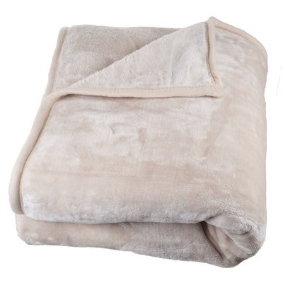 Solid Soft Heavy and Thick Plush Mink Throw Blanket - Trademark Global