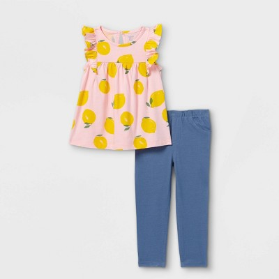 Toddler Girls' 2pc Lemon Tank Top and Bottom Set - Just One You® made by carter's Pink