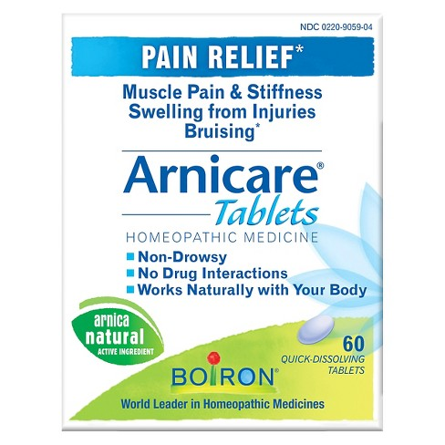 Arnicare® Homeopathic Pain Relief Quick-Dissolving Tablets - PurposeArnica Montana - 60ct - image 1 of 2