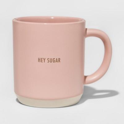 Stoneware Hey Sugar Mug 10.3oz Pink - Threshold™