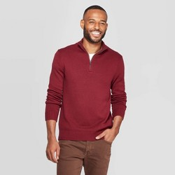 Men's Casual Fit Turtleneck 1/4 Zip Long Sleeve Pullover Sweater - Goodfellow & Co™