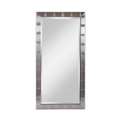 "22"" x 42"" Creekside Collection Silver Beveled Glass Wall Mirror Silver - Alpine Art and Mirror"