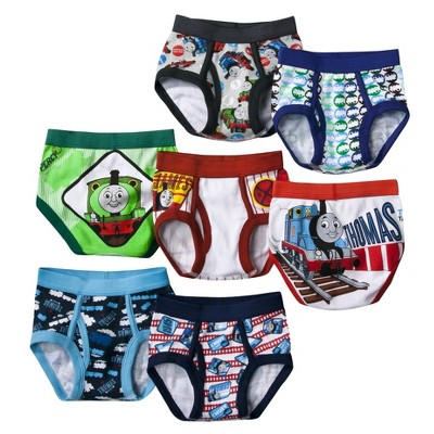 6 Pair Pack Boys Thomas the Tank Engine /& Friends Character Brief Underwear
