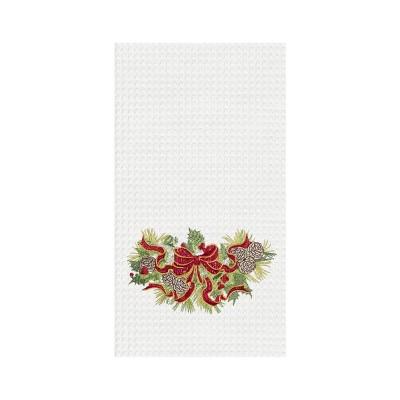 C&F Home Holiday Ribbon Kitchen Towel