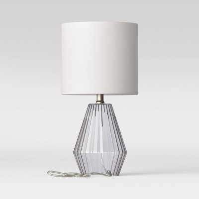 Ribbed Glass LED Accent Lamp Blue (Includes Energy Efficient Light Bulb)- Project 62™
