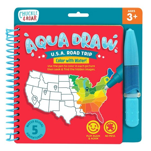 Chuckle & Roar Aqua Draw USA Road Trip - Color With Water! - image 1 of 4