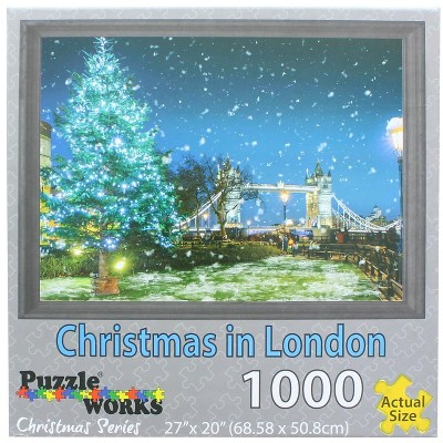 Puzzleworks Christmas In London 1000 Piece Jigsaw Puzzle