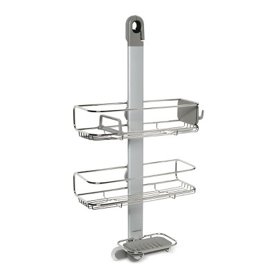 Adjustable Shower Caddy Silver - simplehuman