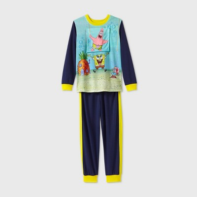 Boys' SpongeBob SquarePants 2pc Pajama Set - Blue