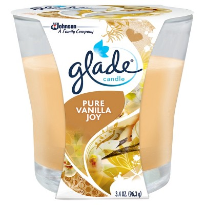 Glade Jar Candle Air Freshener, Pure Vanilla Joy, 3.8oz