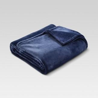 Microplush Bed Blanket (Full/Queen) Metallic Blue - Threshold™