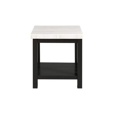 Evie Marble Square End Table White - Picket House Furnishings