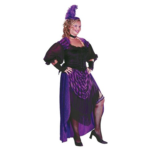Women's Plus Size Lady Maverick Costume Purple 2X - image 1 of 1