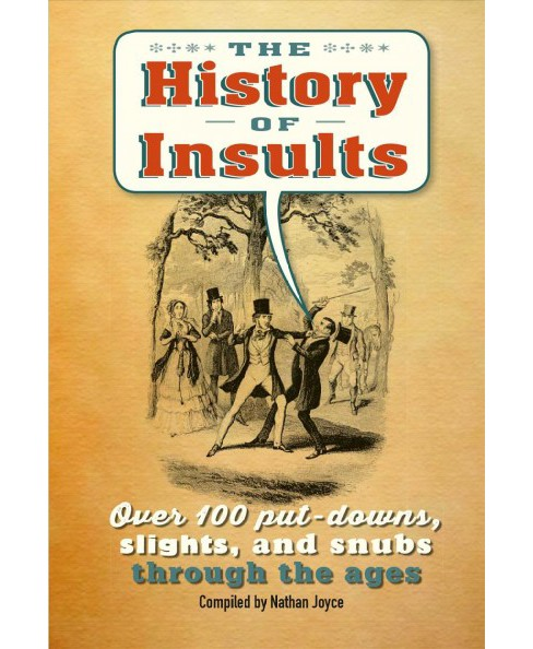 History of Insults : Over 100 Put-downs, Slights, and Snubs Through the Ages (Hardcover) - image 1 of 1