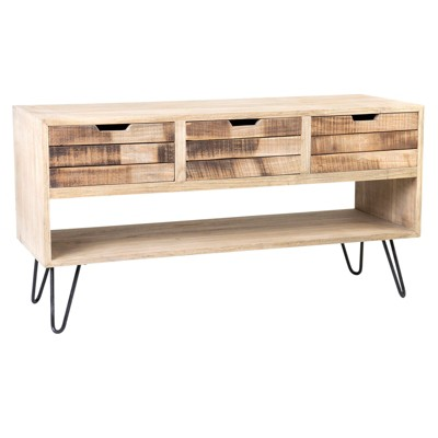 Oliver Mindi Wood Chest Brown - East at Main