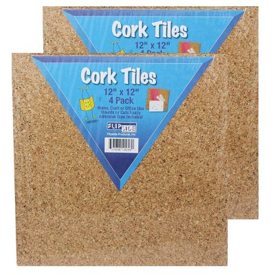 "8ct 12"" Natural Cork Tiles - Flipside"