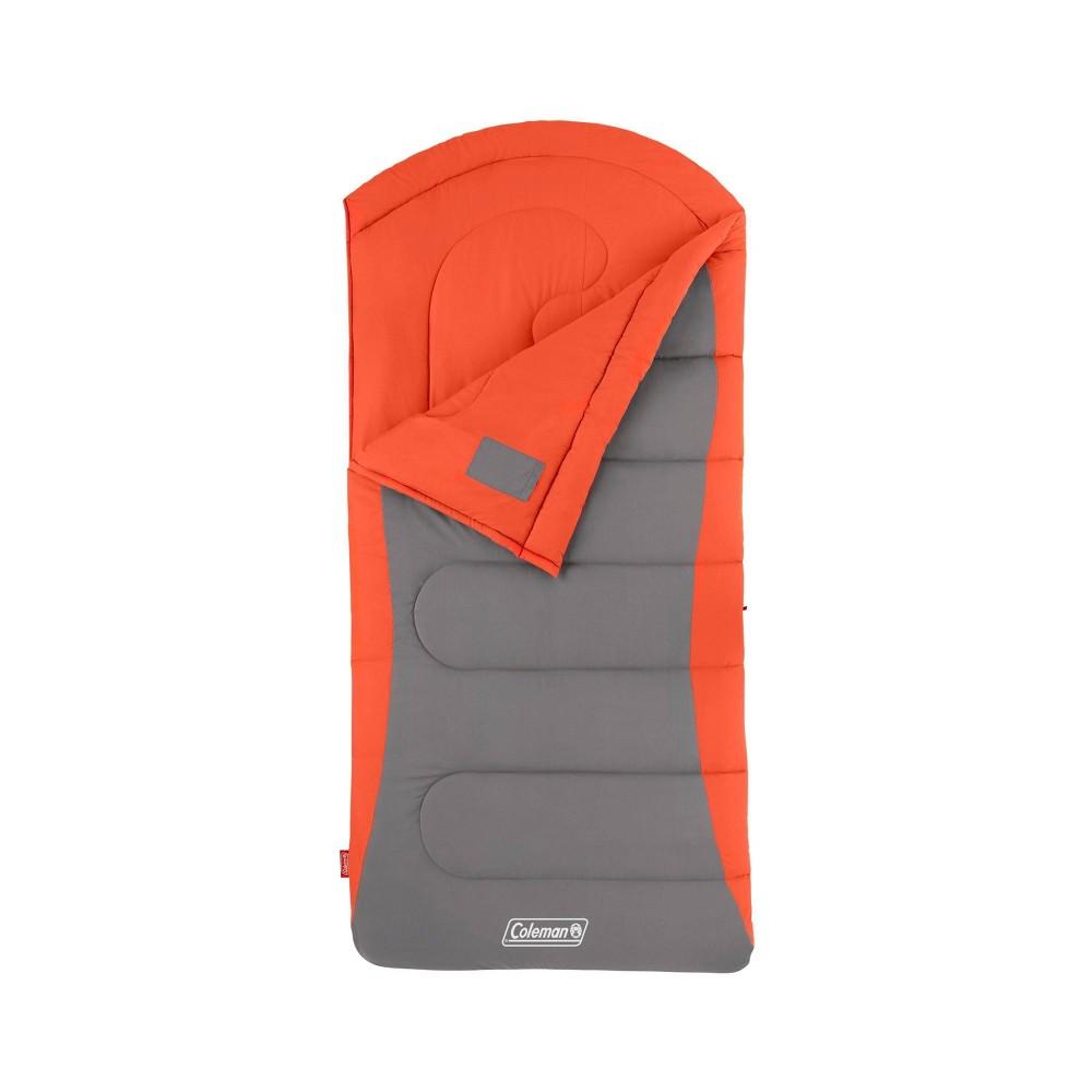 Coleman Cont Dexter 50 Degree Big And Tall Sleeping Bag Orange