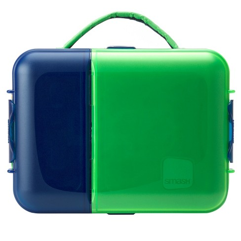 Smash Kids Brains Lunch Box - Lime and Navy - image 1 of 5