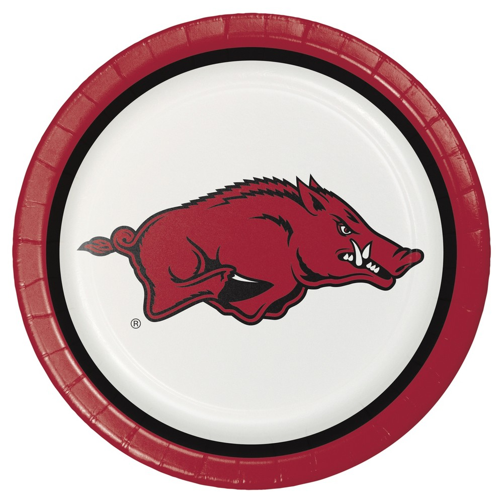 "Image of ""University of Arkansas 9"""" Paper Plates - 8ct"""