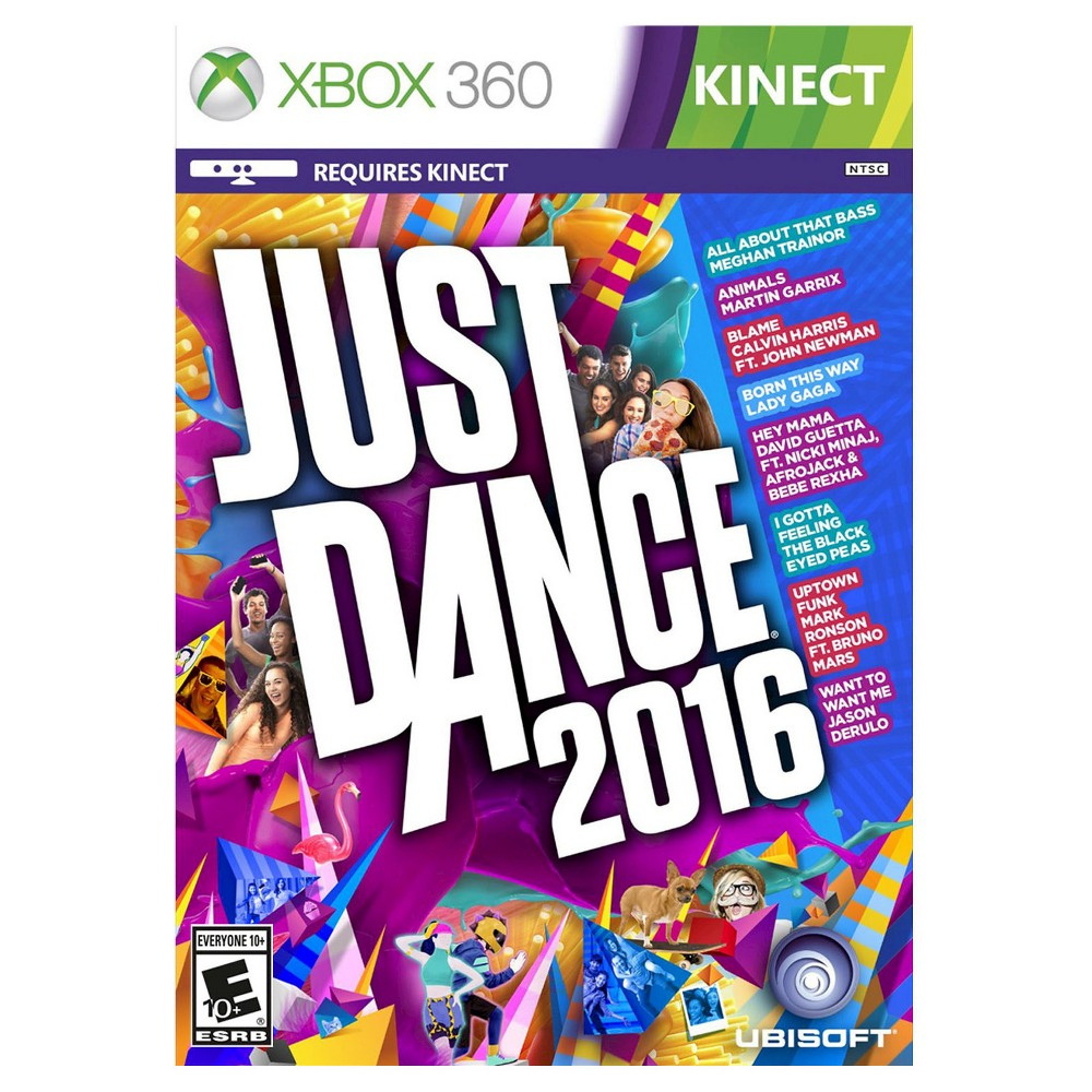 Just Dance 2016 Pre-Owned Xbox 360 Bust a move with Just Dance 2016 Pre-Owned (Xbox 360) - Namco. The game works for Xbox 360 consoles. The pre-owned video game is in like-new condition and is recommended for everyone ages 10 and older.