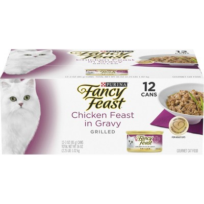 Purina Fancy Feast Grilled Chicken Feast in Gravy Gourmet Wet Cat Food - 3oz/12ct Pack
