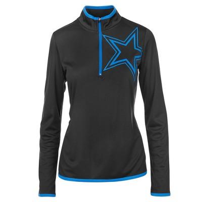 Dallas Cowboys Women s Lakota Black  Electric Blue 1 4 Zip XS   Target dfa4406cc