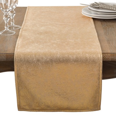 Gold Shimmer Solid Table Runner - Saro Lifestyle