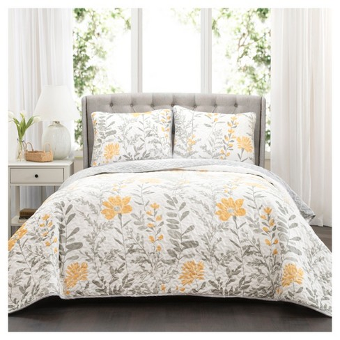 Yellow Aprile Quilt Set 3pc Lush