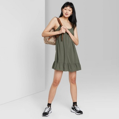 Women's Ruffle Hem Woven Dress - Wild Fable™