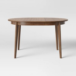Astrid Mid-Century Round Dining Table with Extension Leaf - Project 62™