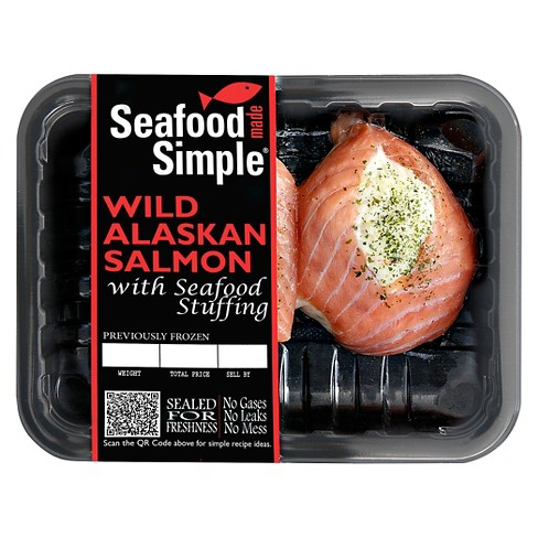 Seafood Made Simple Belle Mar Stuffed Keta Salmon - 10oz - image 1 of 1