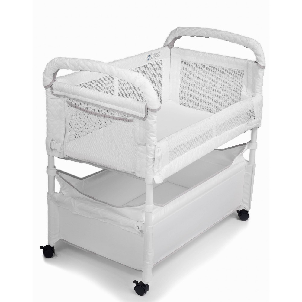 Image of Arm's Reach Clear-Vue Co-Sleeper Bassinet - White