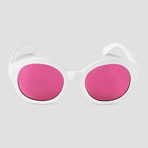 Girls' Oval Sunglasses - Cat & Jack™ White - image 1 of 1