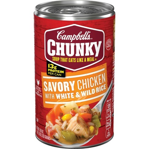 Campbell's® Chunky™ Savory Chicken with White & Wild Rice Soup 18.8 oz - image 1 of 5